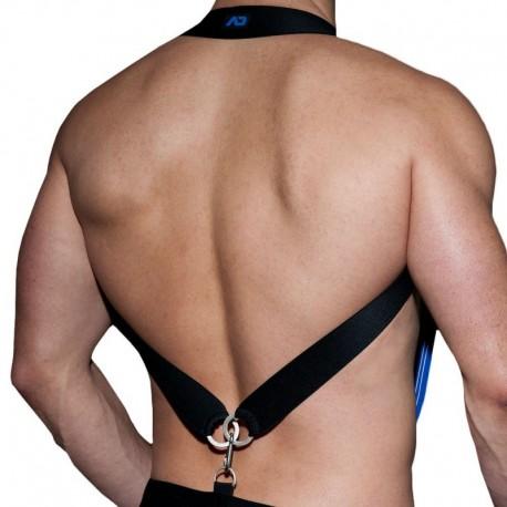 AD Fetish Elastic Suspenders - Royal