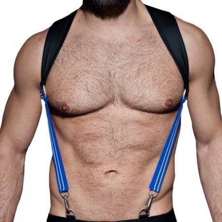 AD Fetish Rubber Suspenders - Black - Royal