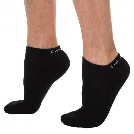 Calvin Klein Lot de 6 Paires de Socquettes Diego Noires