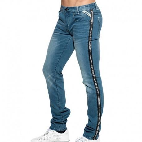 ES Collection Dystopia Tape Jeans - Indigo