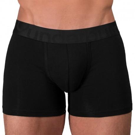 Rounderbum Long Padded Cotton Boxer Briefs - Black