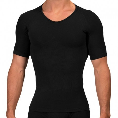 Rounderbum T-Shirt Seamless Compression Noir