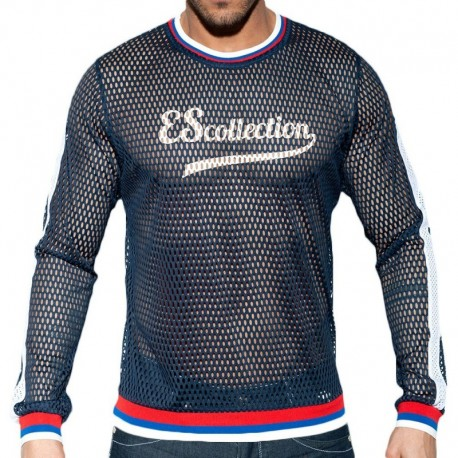 ES Collection T-Shirt Open Mesh Marine