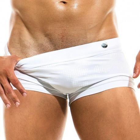 Modus Vivendi Boxer de Bain Glitter Blanc