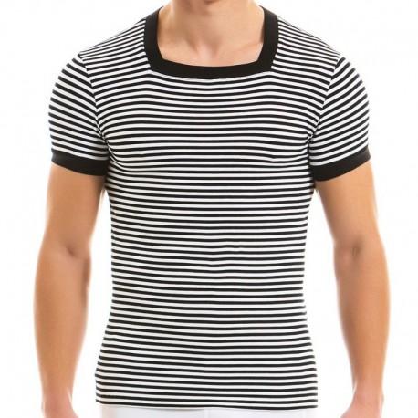 Modus Vivendi T-Shirt Col Carré Marine Noir
