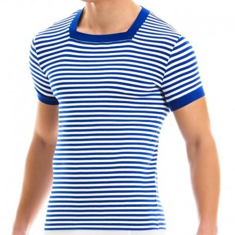 Modus Vivendi T-Shirt Col Carré Marine Bleu