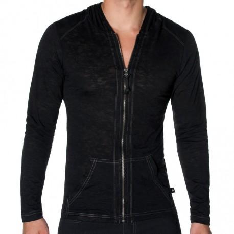 T-Shirt Skinny Core Hoody Noir