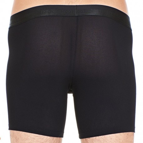 HOM Boxer Long Performance Mesh Noir