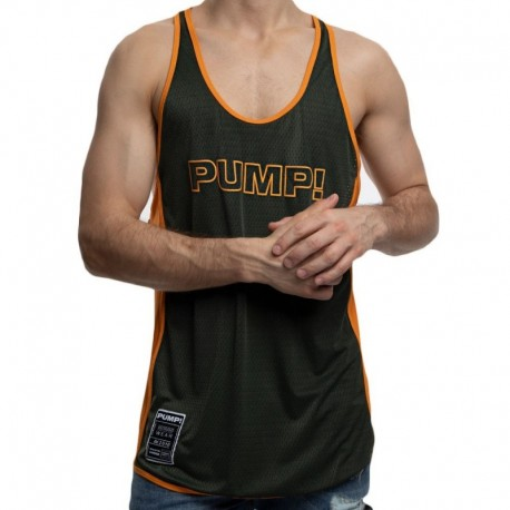 Pump! Débardeur Deep Squad Kaki - Orange
