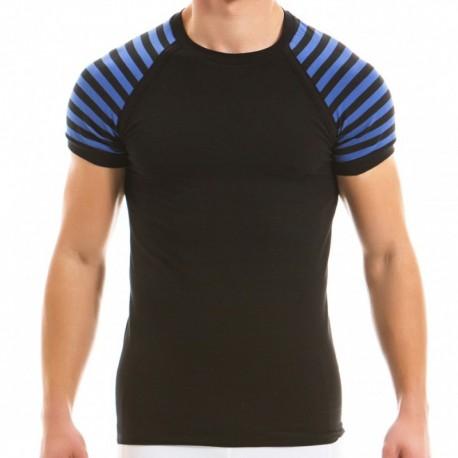Modus Vivendi T-Shirt Striped Bleu