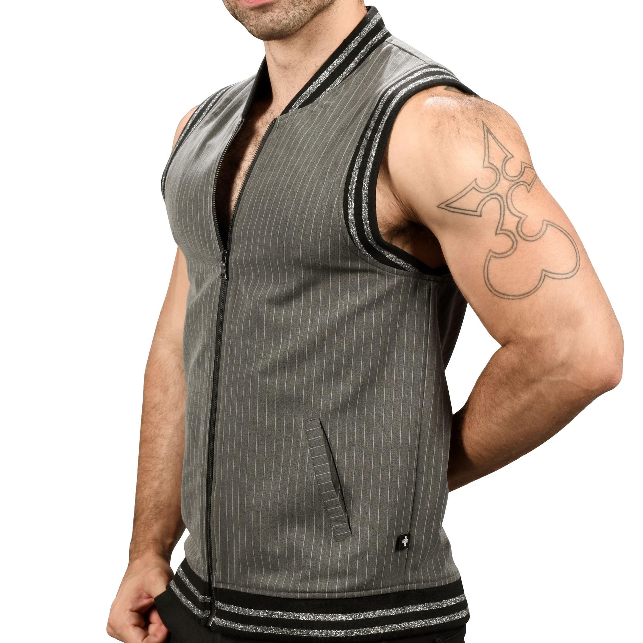 Grey PinStripe Vest  Small