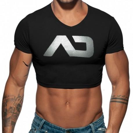 Addicted T-Shirt Crop AD Noir