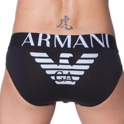 Slip Eagle Stretch Noir Emporio Armani