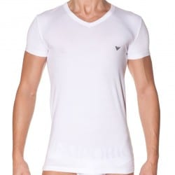 T-Shirt Eagle Stretch Blanc Emporio Armani