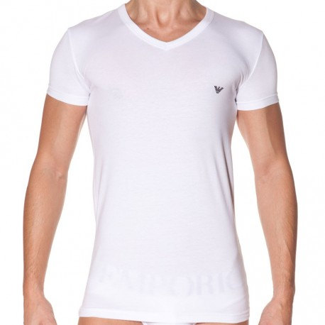 T-Shirt Eagle Stretch Blanc