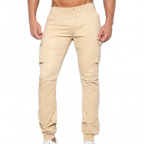 ES Collection Pantalon Cargo Beige