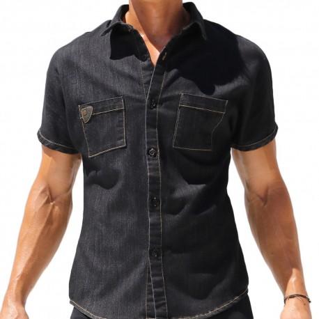 Rufskin Chemisette Jeans Stud Noire