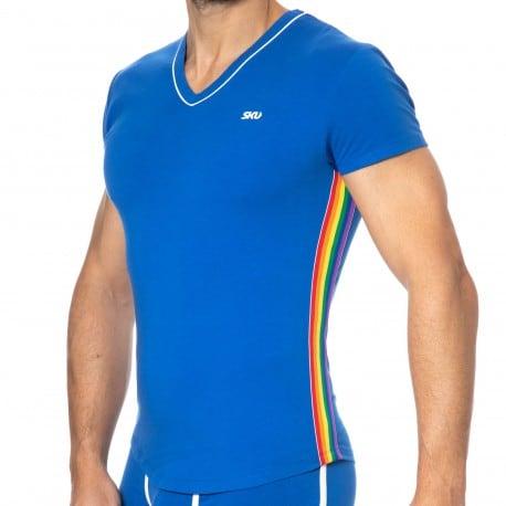 SKU T-Shirt Rainbow Bleu Roi