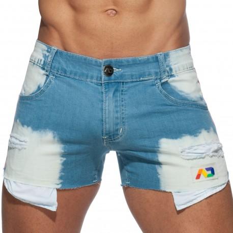 Addicted Short en Jeans Pride Bleu Indigo