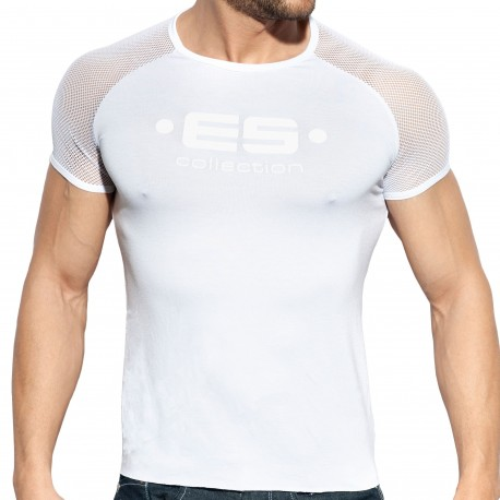 ES Collection T-Shirt Raglan Mesh Blanc