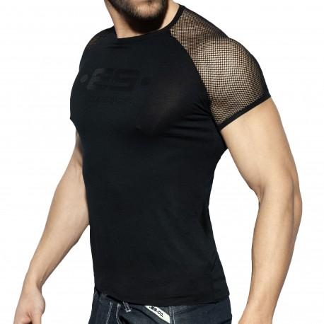 ES Collection T-Shirt Raglan Mesh Noir