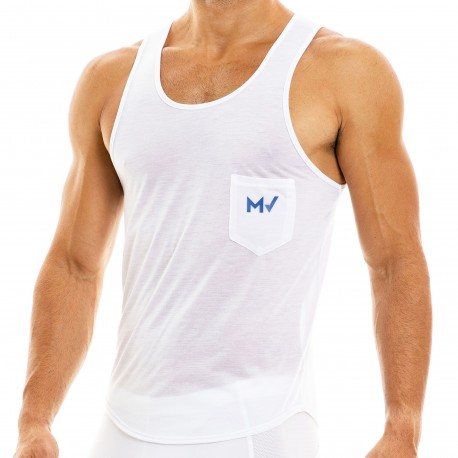 Modus Vivendi Débardeur Peace Microfibre Blanc