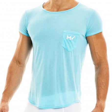 Modus Vivendi T-Shirt Peace Microfibre Bleu Turquoise
