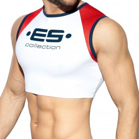 ES Collection Débardeur Crop Muscle Blanc