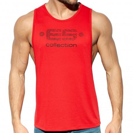 ES Collection Débardeur Echancré Logo Rouge