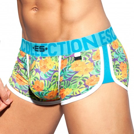 ES Collection Shorty Double Side Flowers Vert