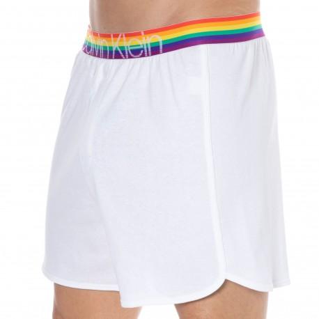 Calvin Klein Short Coton Pride Edit Blanc