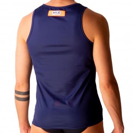 Male Identity Débardeur Sport Mesh Bleu Marine