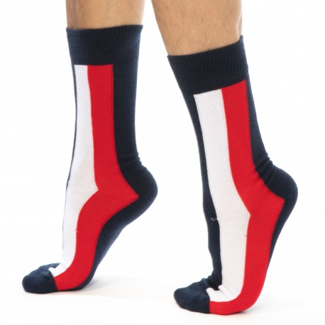 Tommy Hilfiger Iconic Cotton Socks - Navy 39/42