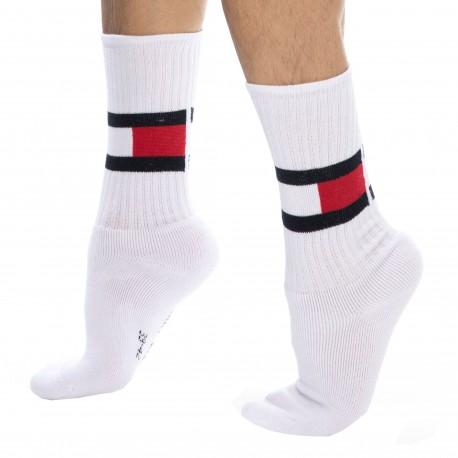 Tommy Hilfiger Flag Cotton Sports Socks - White 39/42