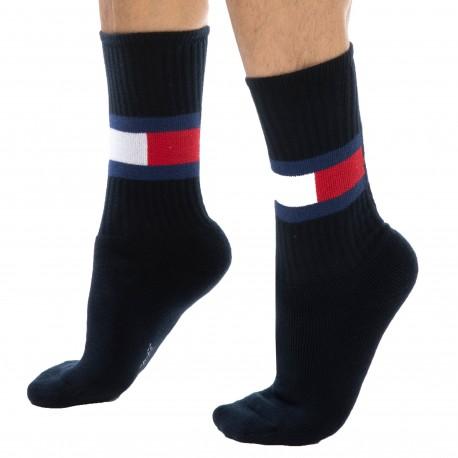 Tommy Hilfiger Flag Cotton Sports Socks - Navy 39/42