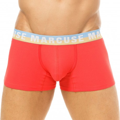 Marcuse Empire Cotton Trunks - Red
