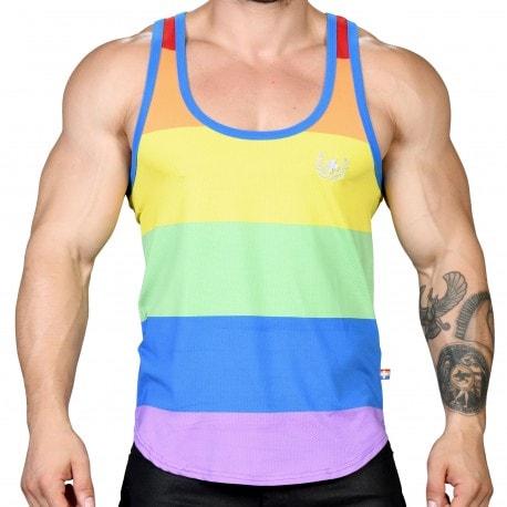 Andrew Christian Débardeur Mesh Ultra Pride Arc-en-Ciel