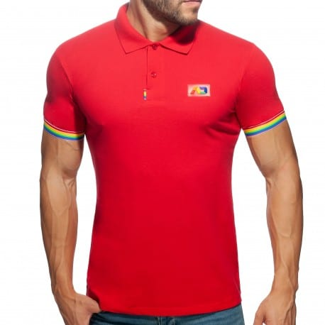Addicted Polo Rainbow Coton Rouge