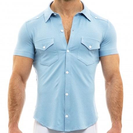 Modus Vivendi Chemisette Jeans Bleu Clair