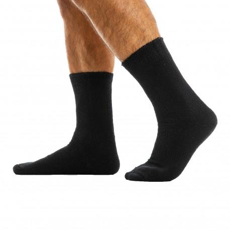 Modus Vivendi Chaussettes Basses Towel Noires