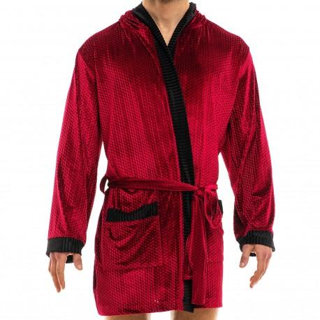 Modus Vivendi Robe de Chambre Tiffany's Velvet Lie de Vin