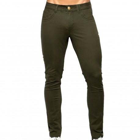 ES Collection Pantalon Slim Fit Kaki
