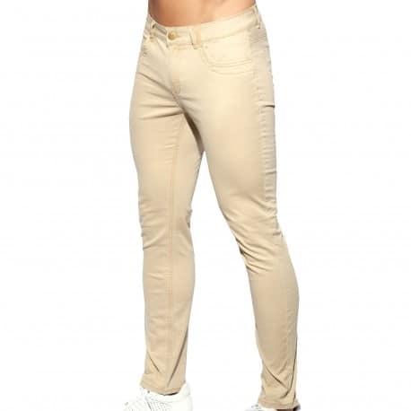ES Collection Pantalon Slim Fit Beige