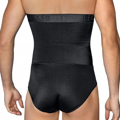 LEO Slip Gainant Taille Extra Haute Noir