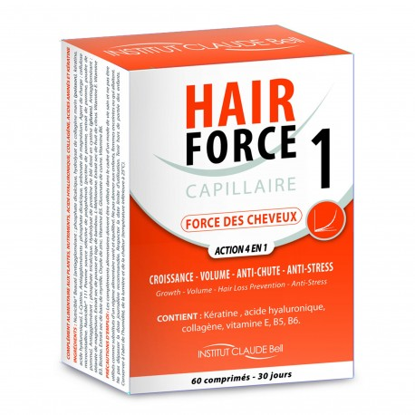 Institut Claude Bell Hair Force 1 - Force des Cheveux - 60 Comprimés