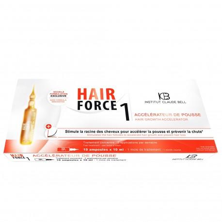 Institut Claude Bell Hair Force 1 - Accelérateur de Pousse - 10 Ampoules de 10 ml