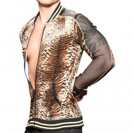 Andrew Christian Veste Sport Plush Tiger