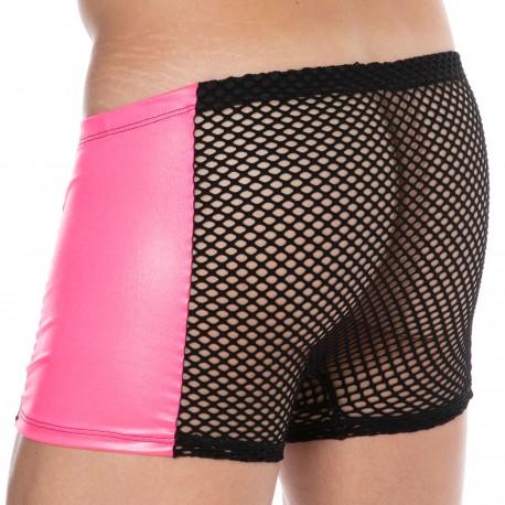 Lookme Metallic Boxer -Black - Pink