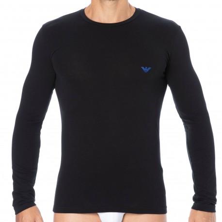 Emporio Armani Double Eagle Cotton T-Shirt  - Black
