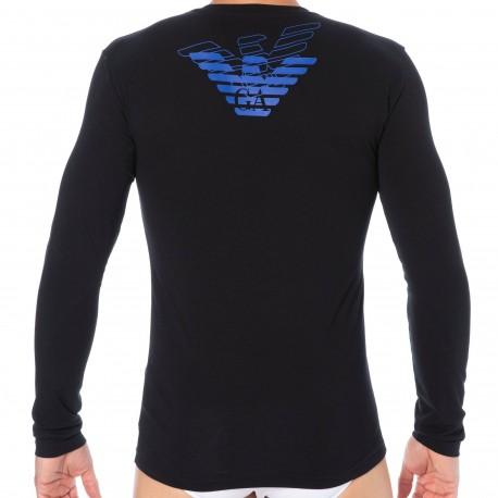 Emporio Armani T-Shirt Double Eagle Coton Noir